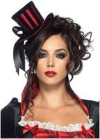 Deluxe velvet striped satin top hat