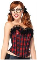 Easy A plaid school girl corset