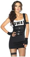 4 PC. Sultry SWAT Officer dress