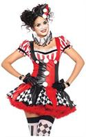 3 PC. Harlequin Clown suspender dress