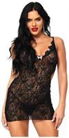 Boudoir rose lace mini dress