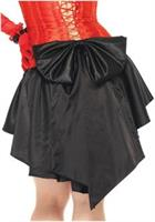 Satin burlesque skirt with train and oversized back bow