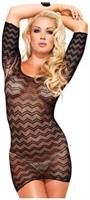 Zig zag crotchet net cut out back mini dress