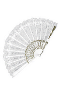 Fan White Lace