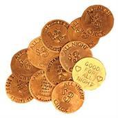 Bawdy House Tokens Bag Of 6