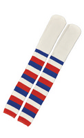 Socks Clown Red White Blue