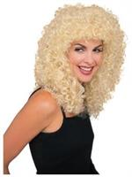 Extra Long Blonde Curly Wig