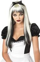 Enchanted Tresses Bk Wht Wig