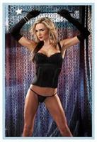 Black Bustier With G-String