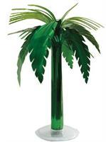 Metallic Palm Tree Table Dcor
