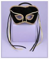 Venetian Couple Mask Swvl Bk/G
