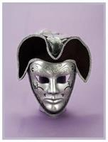 Venetian Mask Silver and Black
