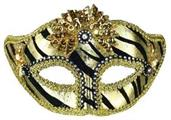 Ven Mask Striped Gold
