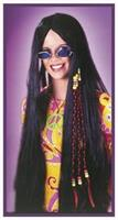 Wig Braided Hippie 33In Black