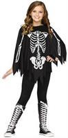Poncho Skeleton Ch Up To 14