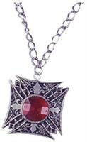 Vampire Red Gem Medallion