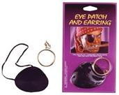Satin Eye Patch With Earring