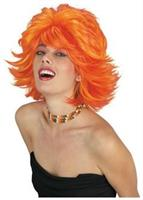 Choppy Red Orange Wig