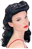 Pin Up Babe Black Wig