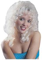 Curly Party Blonde White new Wig