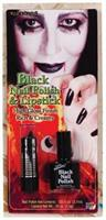 Lipstick Nail Polish Black Makeup Accessory