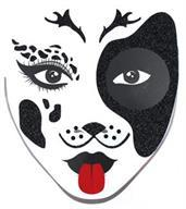 Face Decal Dalmation