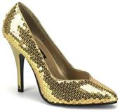Seduce Sequin Pump Gold Shoes