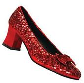 Red Sequin Shoes
