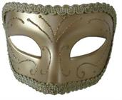 Medieval Opera Gold Mask With Gold Detailing
