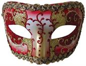 Red Gold Medieval Opera Mask