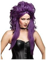 Sorceress Black Purple Wig