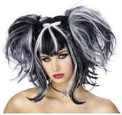 Bad Fairy Black White Wig