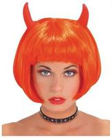 Devil Red Wig  With Horns