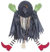 Tree Trunk Witch With Red Shoes Decoration