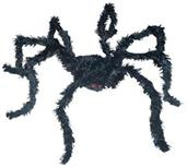 Light Up Black Spider Long Hair