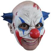 Clown Latex Mask With Blue Hair