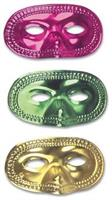 Metallic Colors Half Masks Assorted