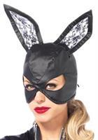 Mask Bunny Leather Blk