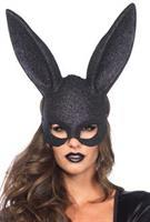 Mask Rabbit Glitter Blk