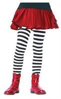 Tights Striped Bk/Wt