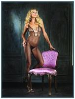 Halter Fishnet Bodystocking Black