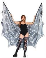Spiderweb Halter Wing Cape Wit