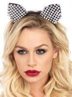 Cat Ears Studded Silver Adult