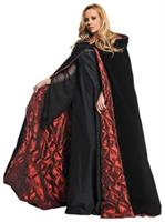 Deluxe Hooded Velvet Cape Costume