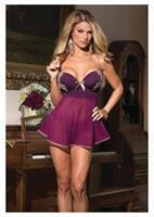 Coquette Women's Padded Cup Babydoll With G-String