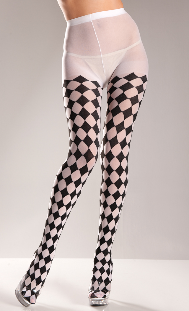 Black And White Checkered Pantyhose Spicylegs Com