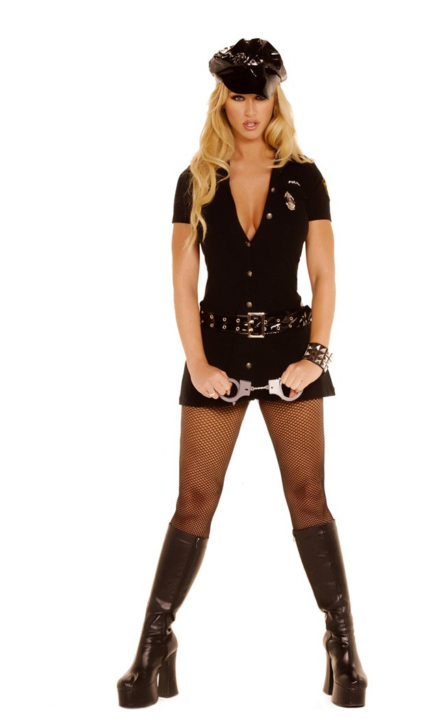 In The Line Of Duty Women's Sexy Adult Cop Costume Card Party Giant