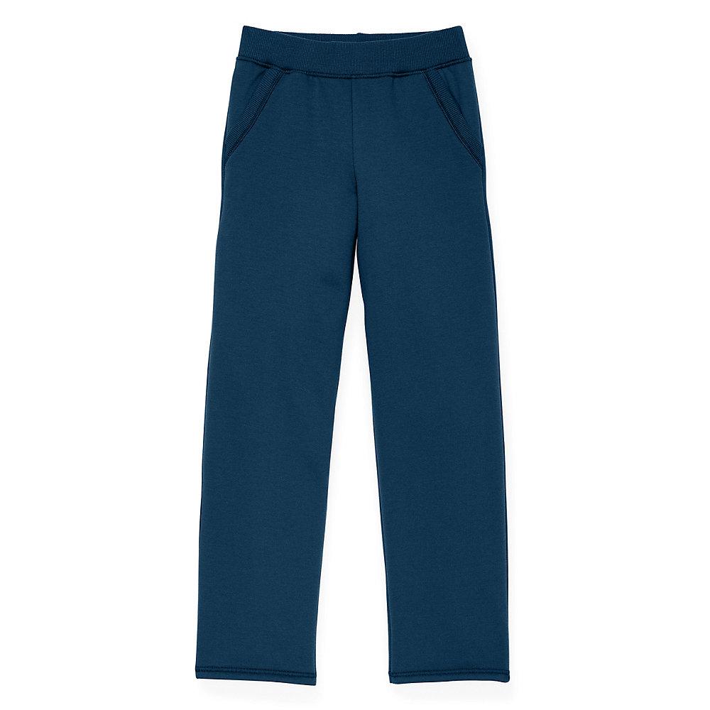 hanes girls fleece open leg sweatpants with pockets