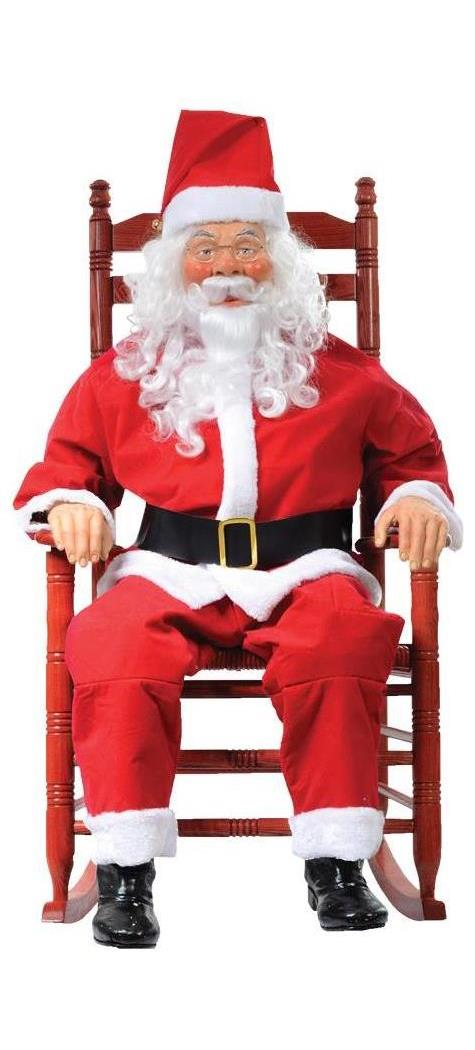 Rocking Chair Santa Boxed Spicylegs Com